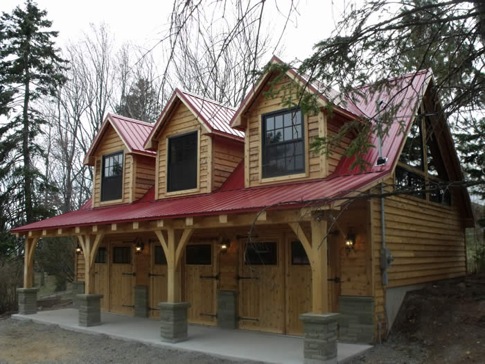 Award winning timber frame designs for Garage packages nova scotia
